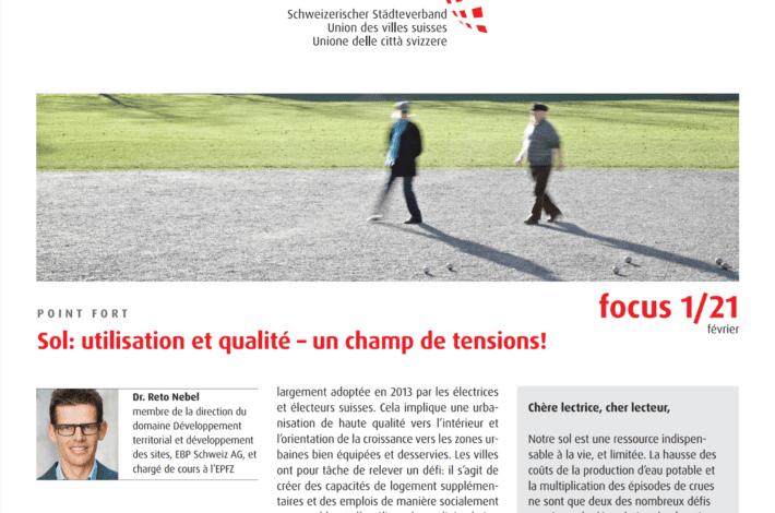 Union des villes suisses – focus 01/21